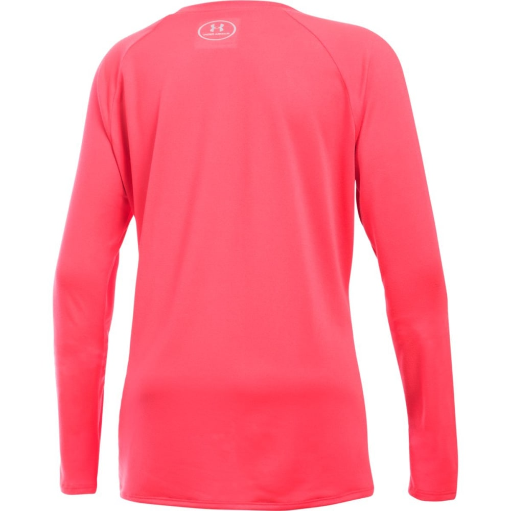 UNDER ARMOUR Girls' Big Logo Long-Sleeve Tee - PINK CHROMA-806