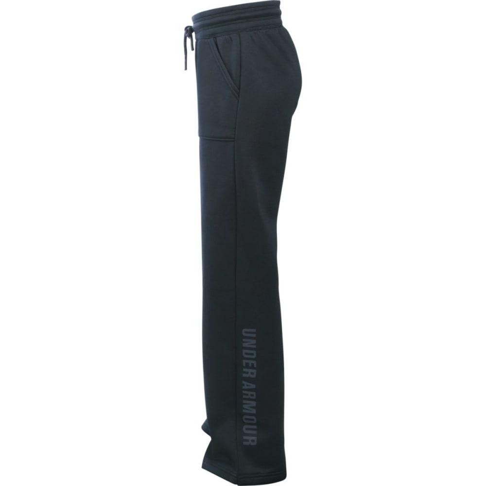 UNDER ARMOUR Girls' Fleece Boyfriend Pants - BLACK/STEALTH-001