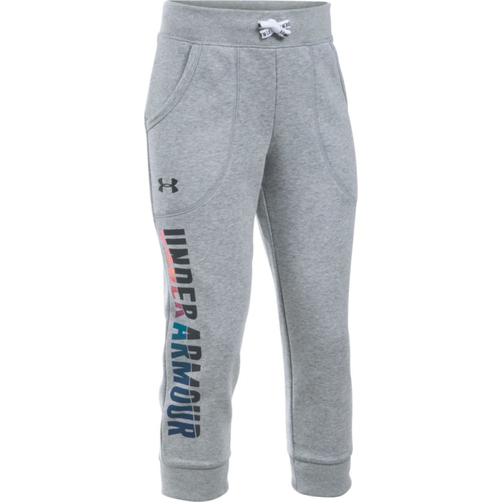 UNDER ARMOUR Girls' Favorite Fleece Capri Pants - TGH/BLK-025