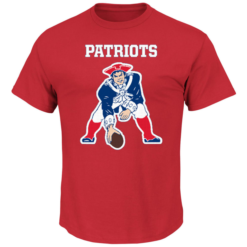 NEW ENGLAND PATRIOTS Men's Critical Victory II Short Sleeve Tee - RED
