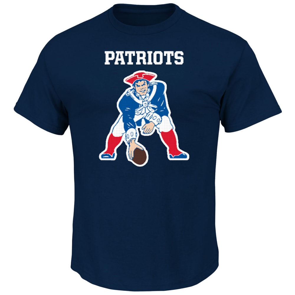 NEW ENGLAND PATRIOTS Men's CV II Pat Short Sleeve Tee - NAVY