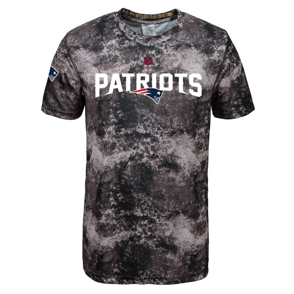 NEW ENGLAND PATRIOTS Boys' Magna Short-Sleeve Tee - BLACK/BROWN/GREY