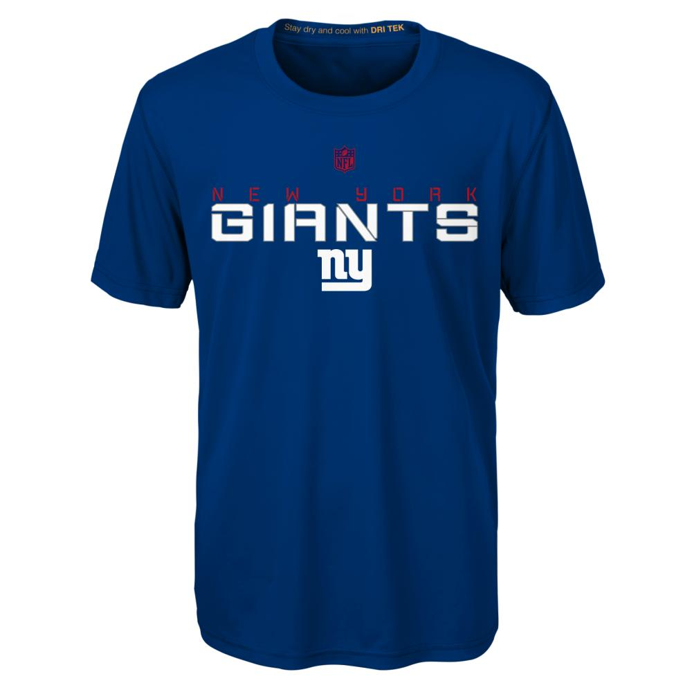 NEW YORK GIANTS Boys' Maximal Short Sleeve Tee - ROYAL BLUE