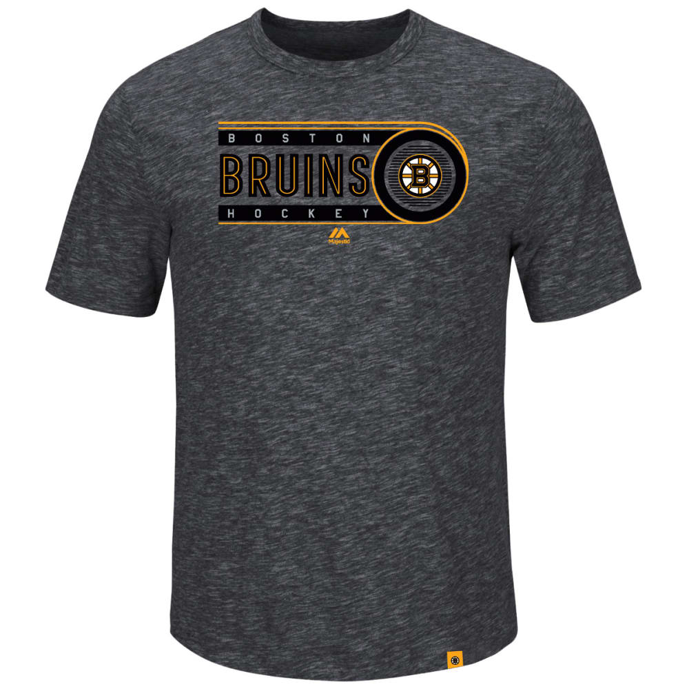 BOSTON BRUINS Men's Off the Post Short-Sleeve Tee - CHARCOAL