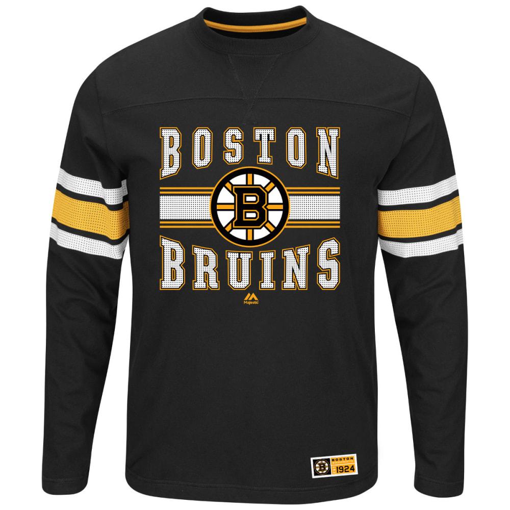 BOSTON BRUINS Men's Forecheck Long-Sleeve Tee - BLACK