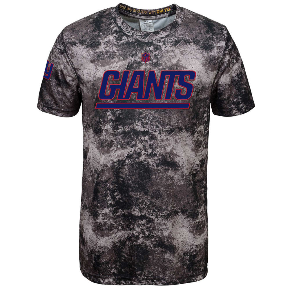 NEW YORK GIANTS Boys' Magna Short Sleeve Tee - BLACK/BROWN/GREY