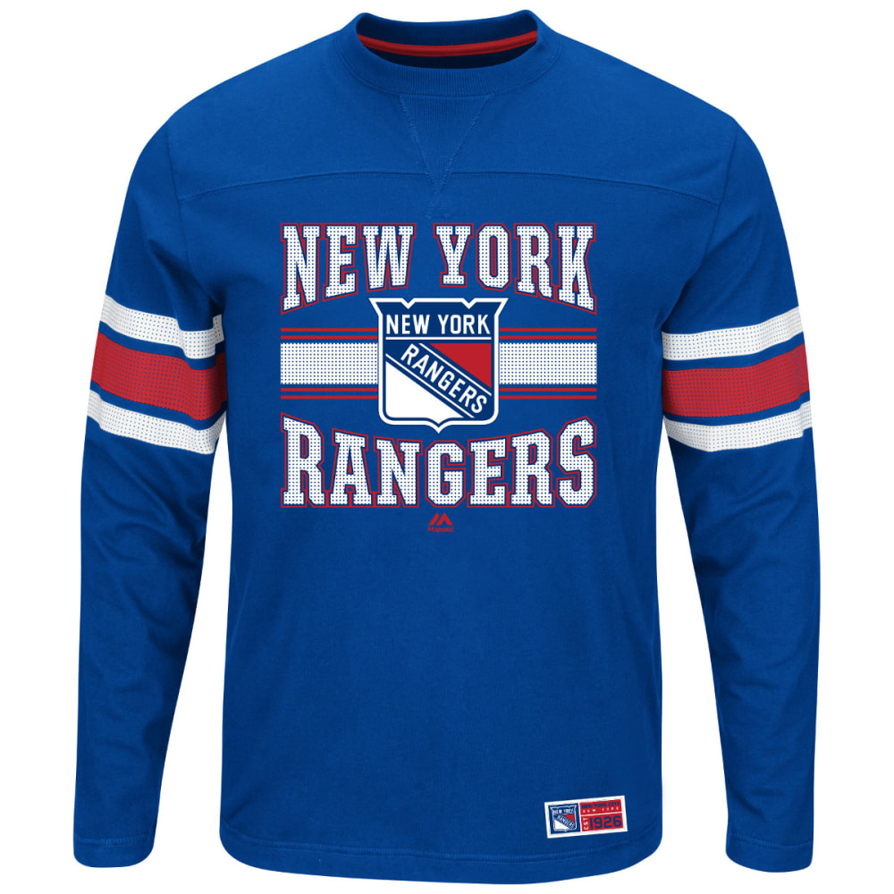 NEW YORK RANGERS Men's Forecheck Long-Sleeve Tee - ROYAL BLUE