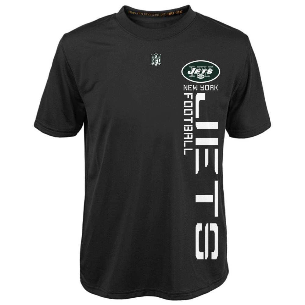 NEW YORK JETS Boys' Magna Short-Sleeve Tee - BLACK/BROWN/GREY