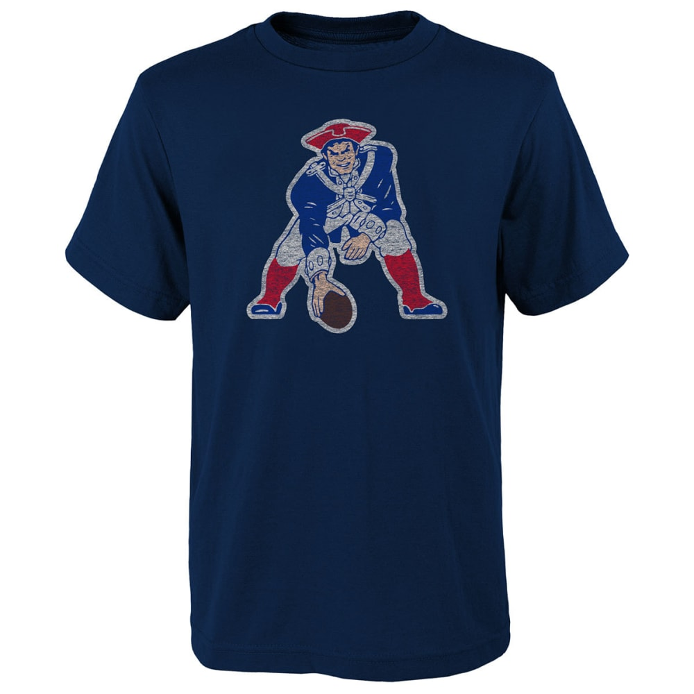 NEW ENGLAND PATRIOTS Boys' Vintage Logo Short Sleeve Tee - NAVY