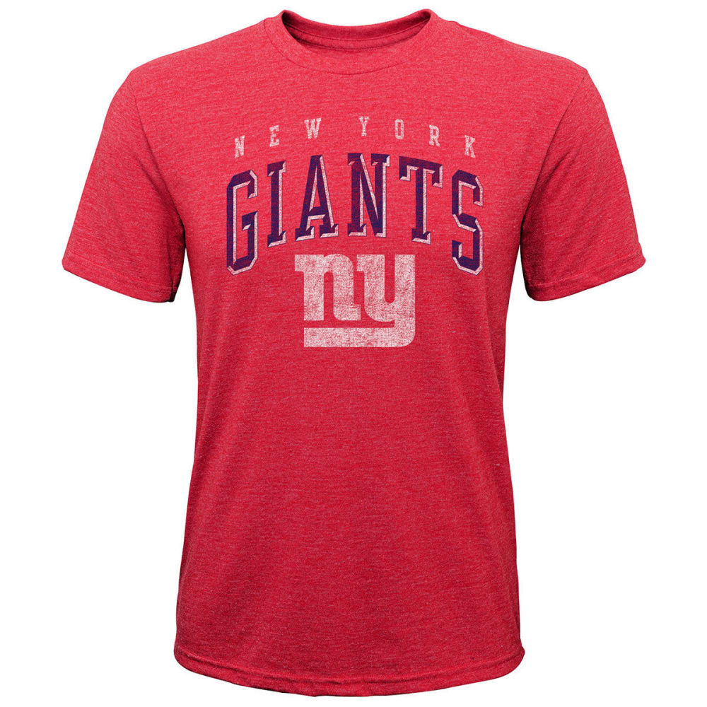 NEW YORK GIANTS Boys' Wheelhouse Short-Sleeve Tee - RED