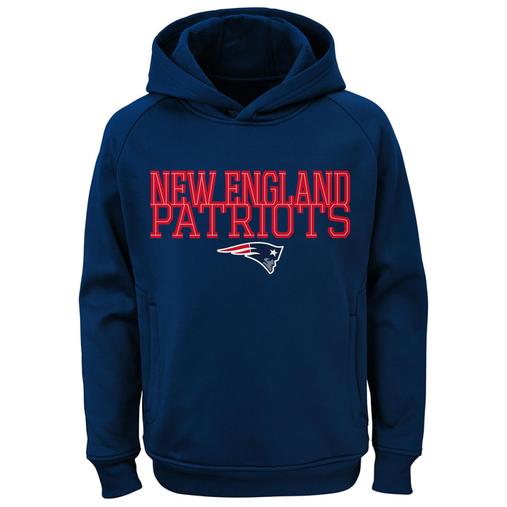 NEW ENGLAND PATRIOTS Boys' Overlap Pullover Hoodie - NAVY