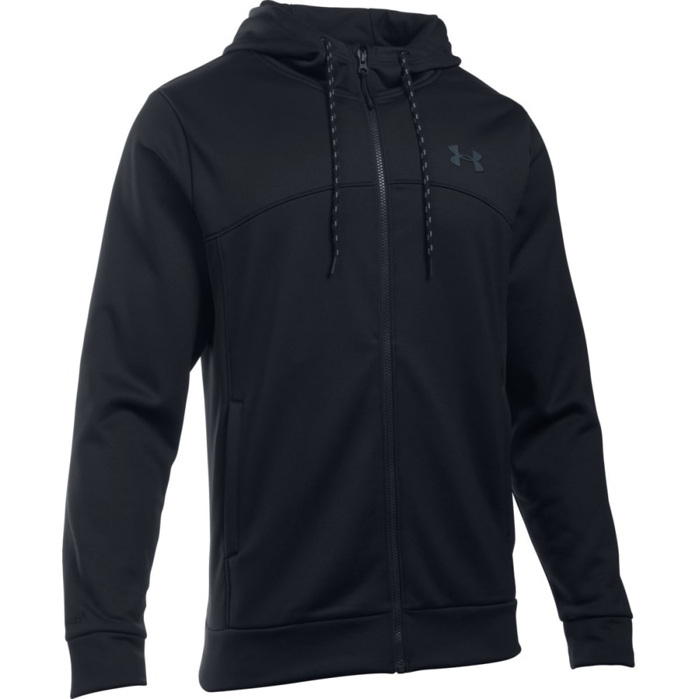 UNDER ARMOUR Men's Storm Armour Fleece Full-Zip Hoodie - BLACK/STEALTH-001