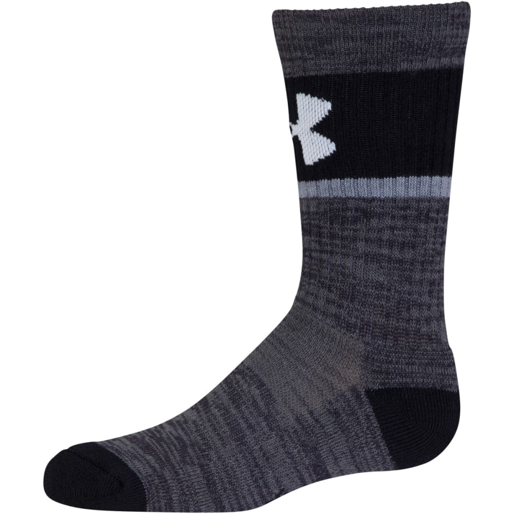 UNDER ARMOUR Boys' Grade School Next Statement 2.0 Crew Socks, 3 Pack - 960-WHITE