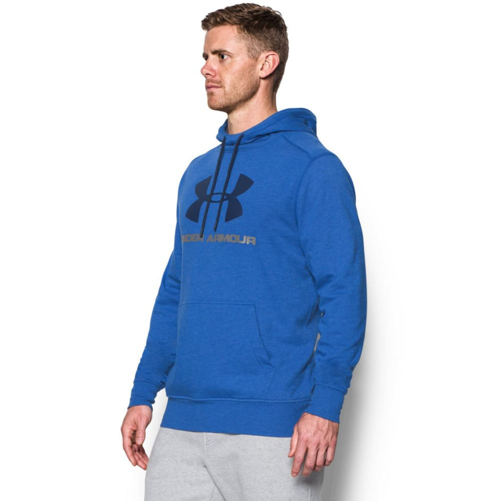 UNDER ARMOUR Men's Sportstyle Fleece Graphic Hoodie - ROYAL-400