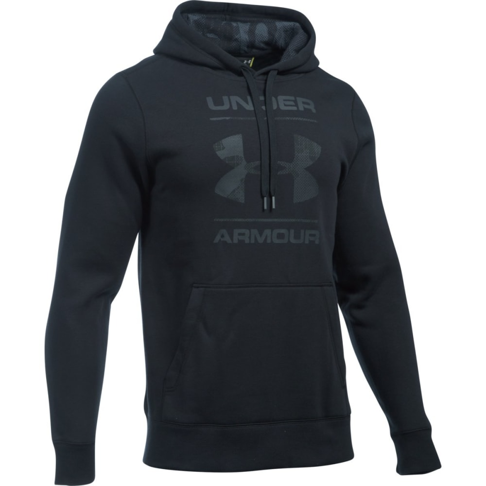 UNDER ARMOUR Men's Rival Camouflage Pullover Hoodie - BLACK-001