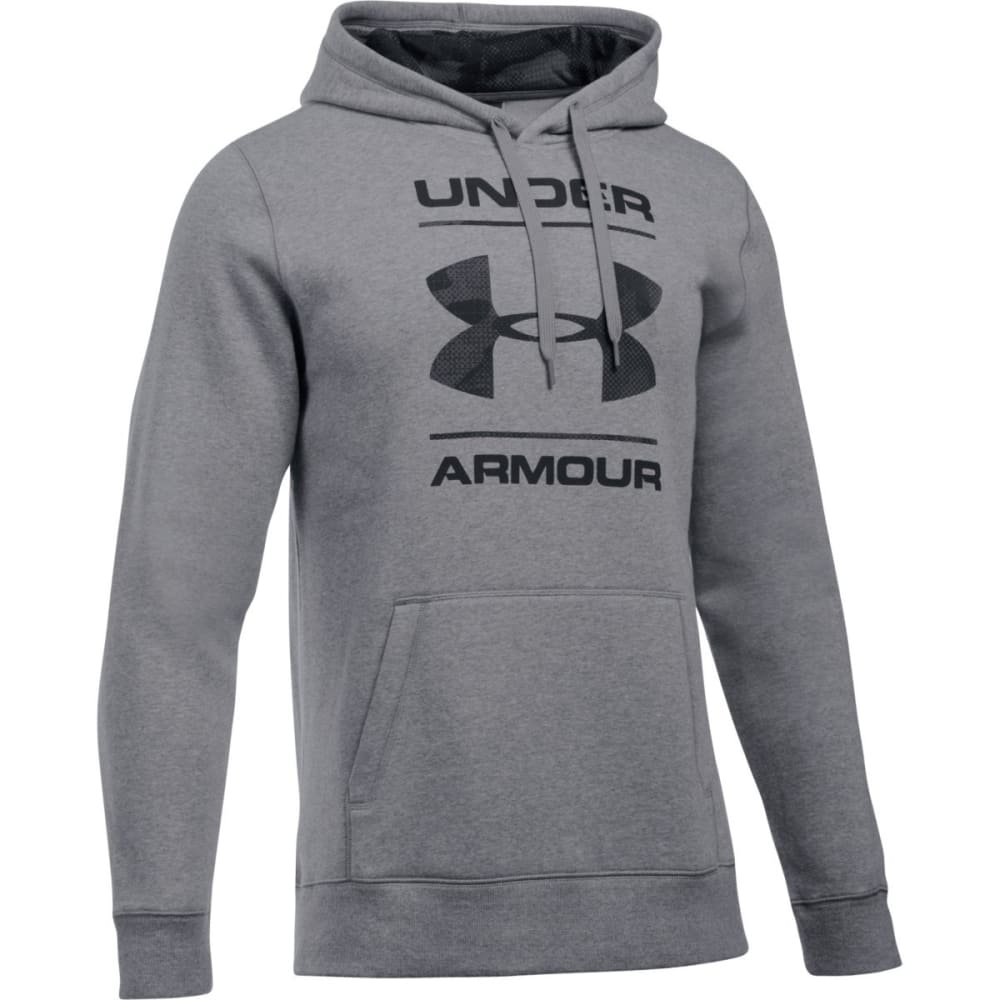 UNDER ARMOUR Men's Rival Camouflage Pullover Hoodie - GREYHOUND HEATHR-082