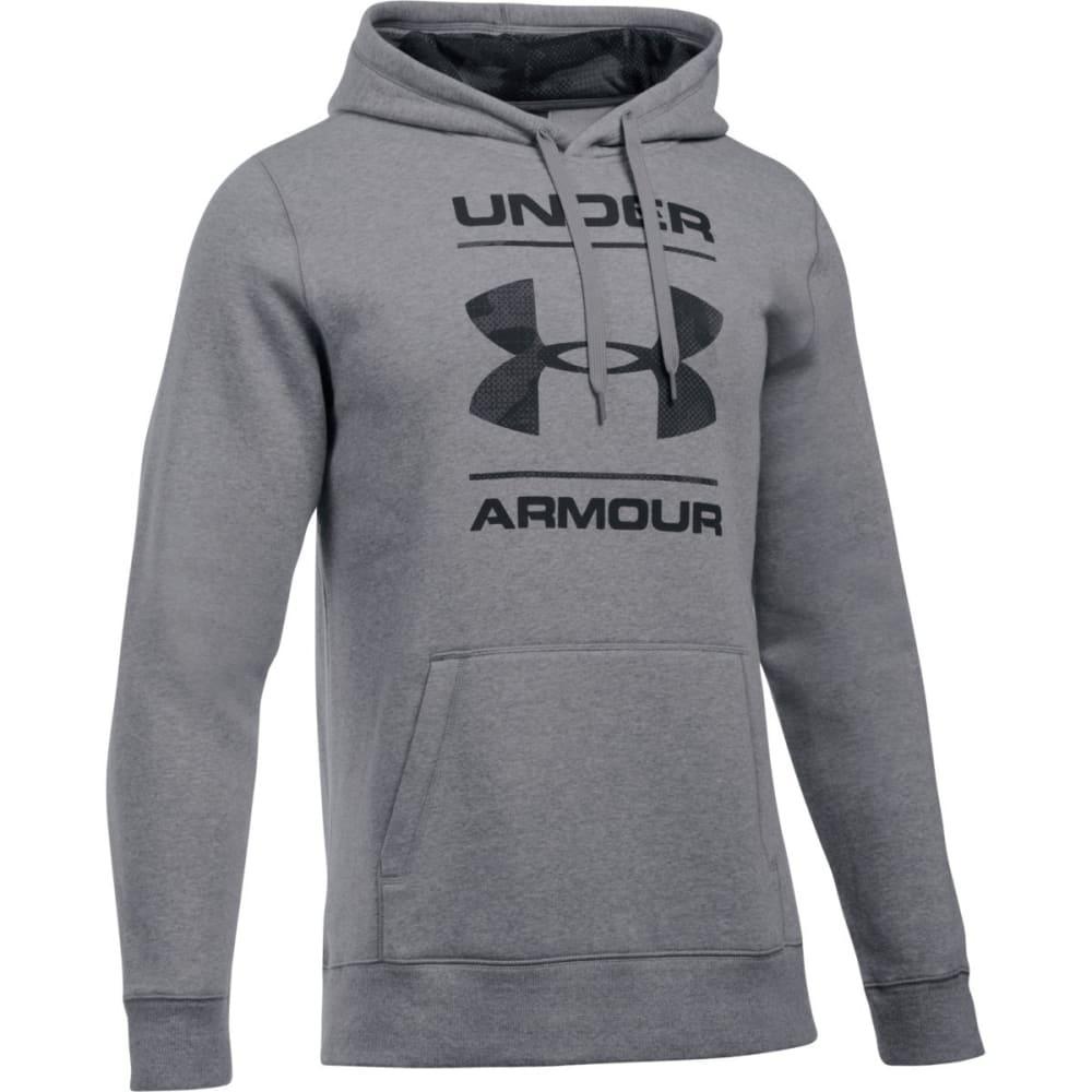 UNDER ARMOUR Men's Rival Camouflage Pullover Hoodie - GREYHOUND HEATHR-082