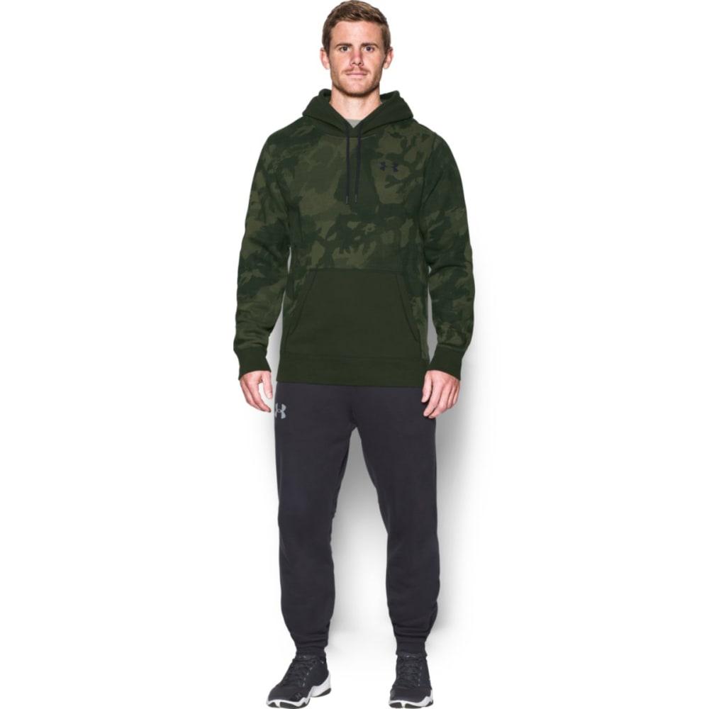 UNDER ARMOUR Men's Rival Fleece Printed Hoodie - ARTILLERY GREEN-357