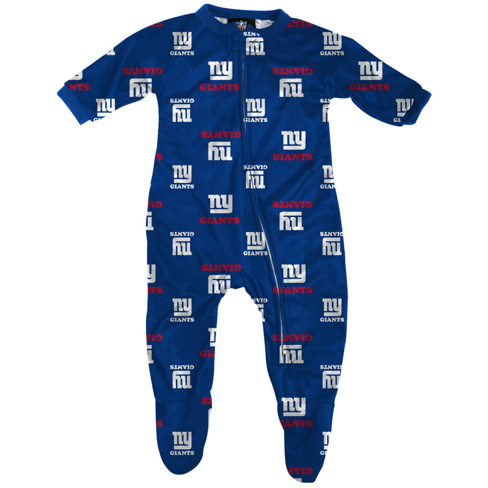 NEW YORK GIANTS Infant Boys' Raglan Zip Coverall - ROYAL BLUE
