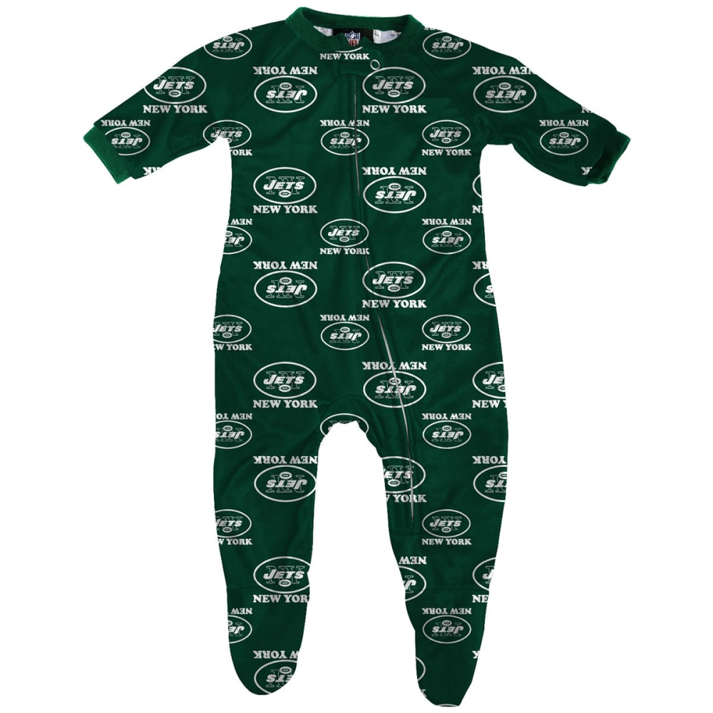 NEW YORK JETS Infant Boys' Raglan Zip Coverall - GREEN