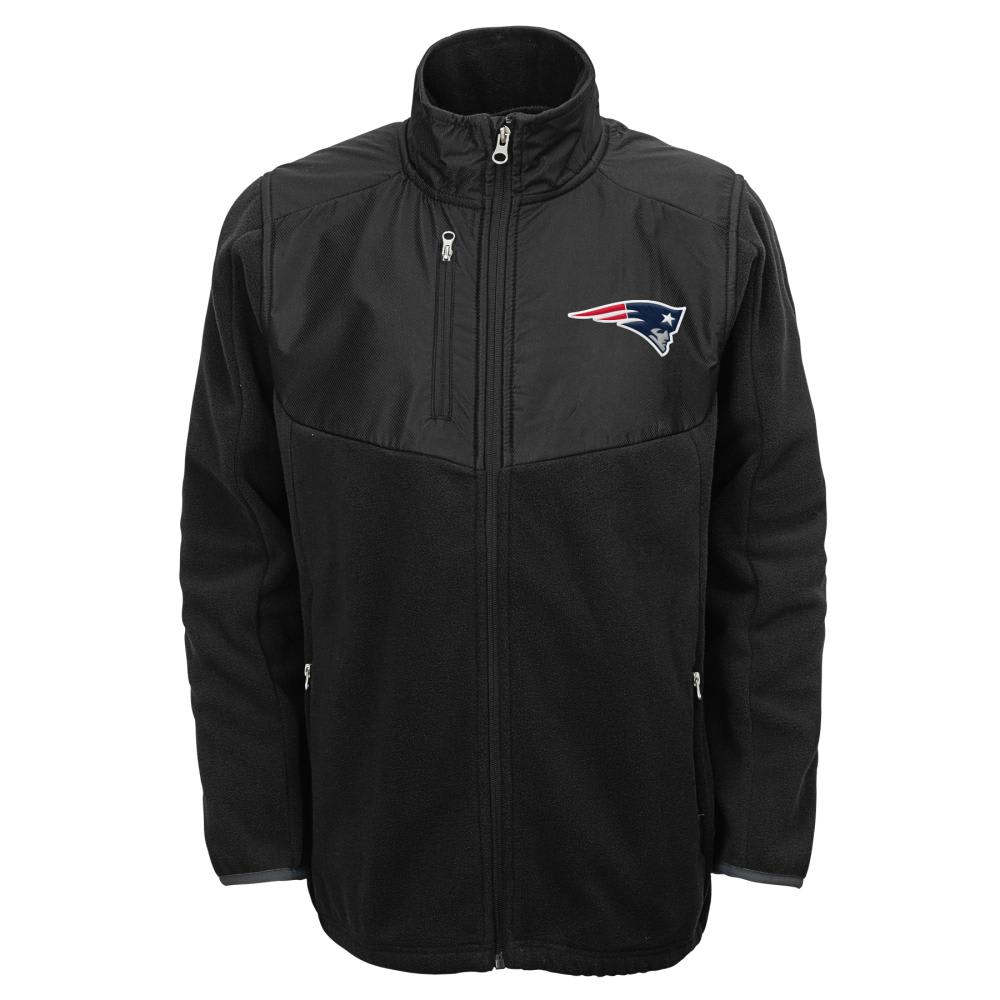 NEW ENGLAND PATRIOTS Boys' Tactical Full Zip Jacket - BLACK