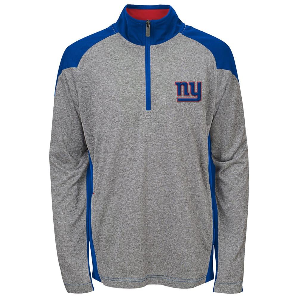 NEW YORK GIANTS Boys' DNA ¼-Zip Pullover - GREY