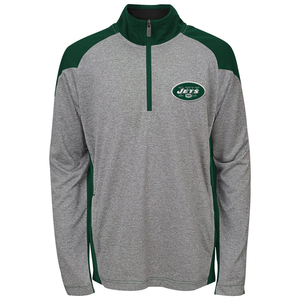 NEW YORK JETS Boys' DNA ¼-Zip Pullover - GREY