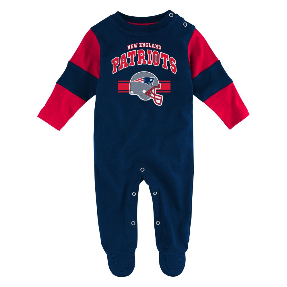 NEW ENGLAND PATRIOTS Infant Boys' Team Believer Coveralls - NAVY/RED