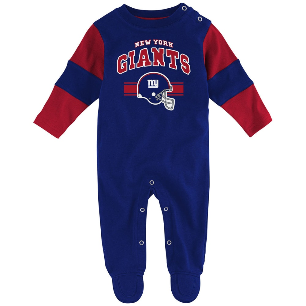 NEW YORK GIANTS Infant Boys' Team Believer Coveralls - ROYAL BLUE