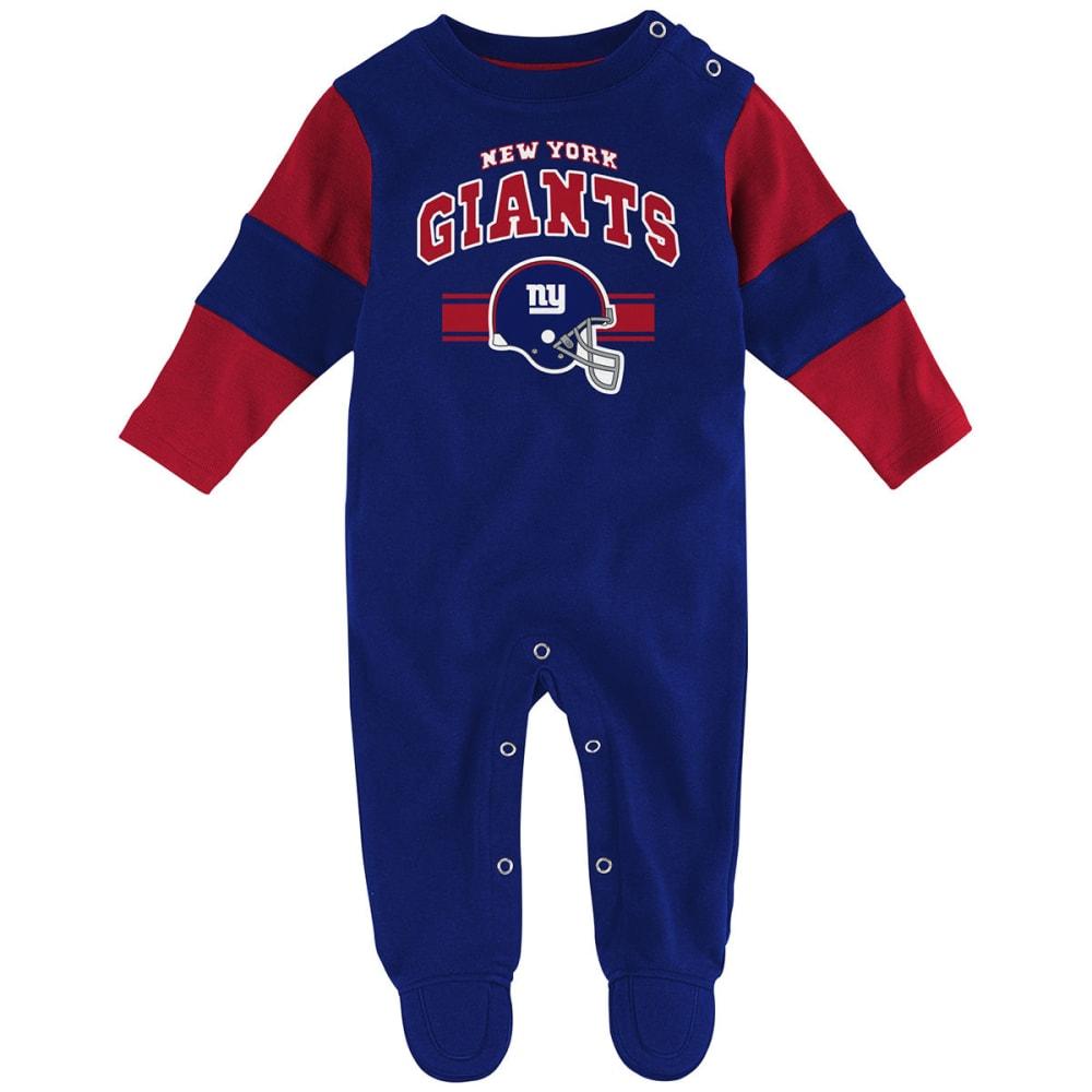 NEW YORK GIANTS Infant Boys' Team Believer Coveralls - ROYAL BLUE