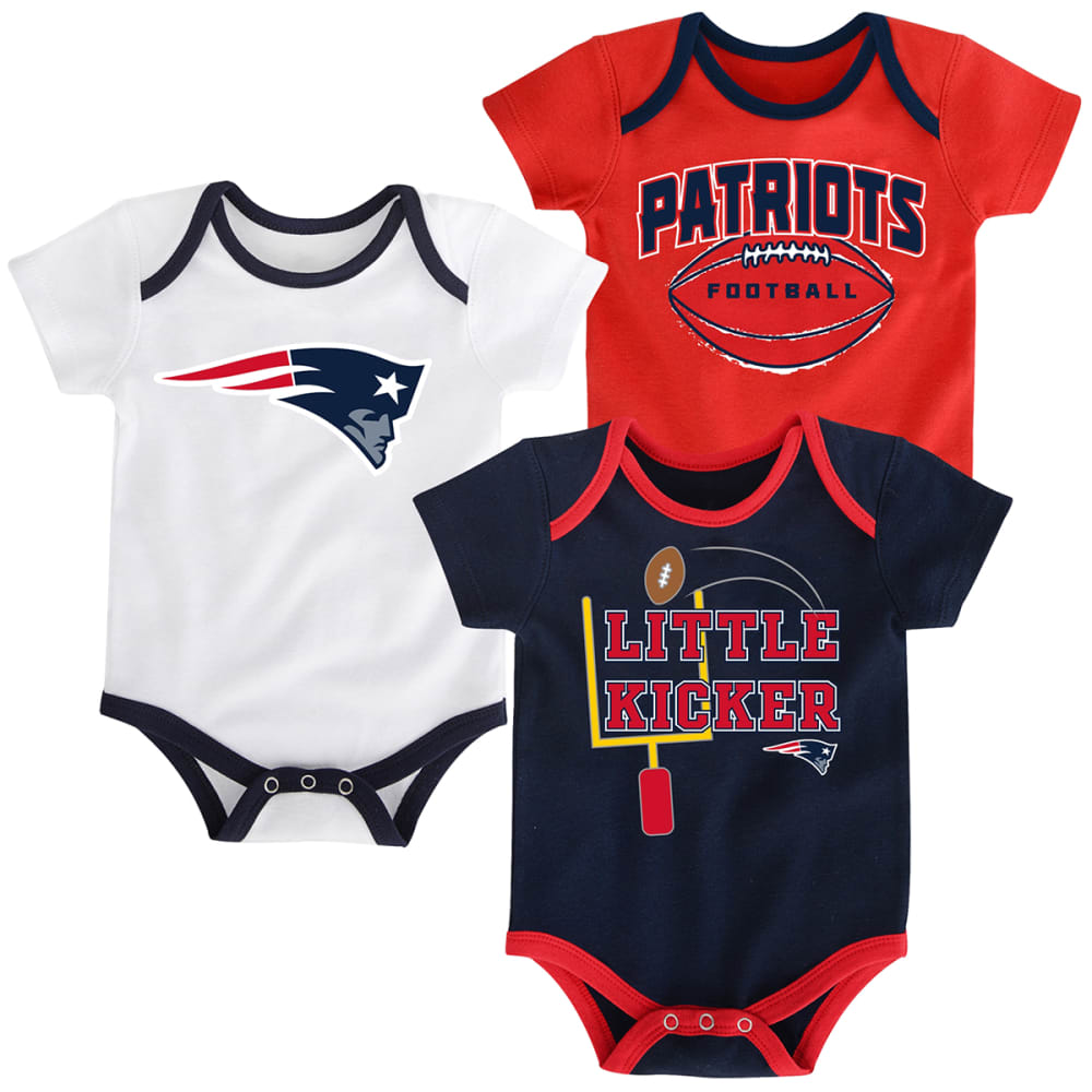 NEW ENGLAND PATRIOTS Infant Boys' Bodysuit Set, 3 Pieces - NAVY