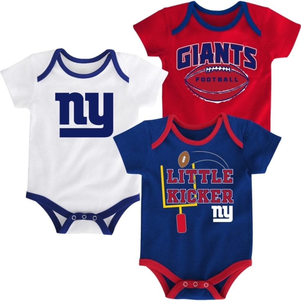 NEW YORK GIANTS Infant Bodysuit Set, 3 Piece - ROYAL BLUE