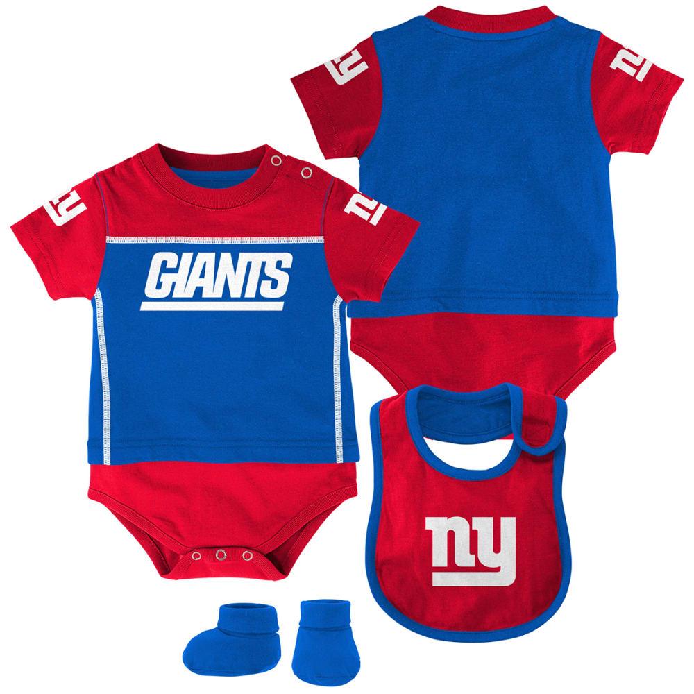 NEW YORK GIANTS Infant Boys' Bib, Booty, and Creeper Set - ROYAL BLUE