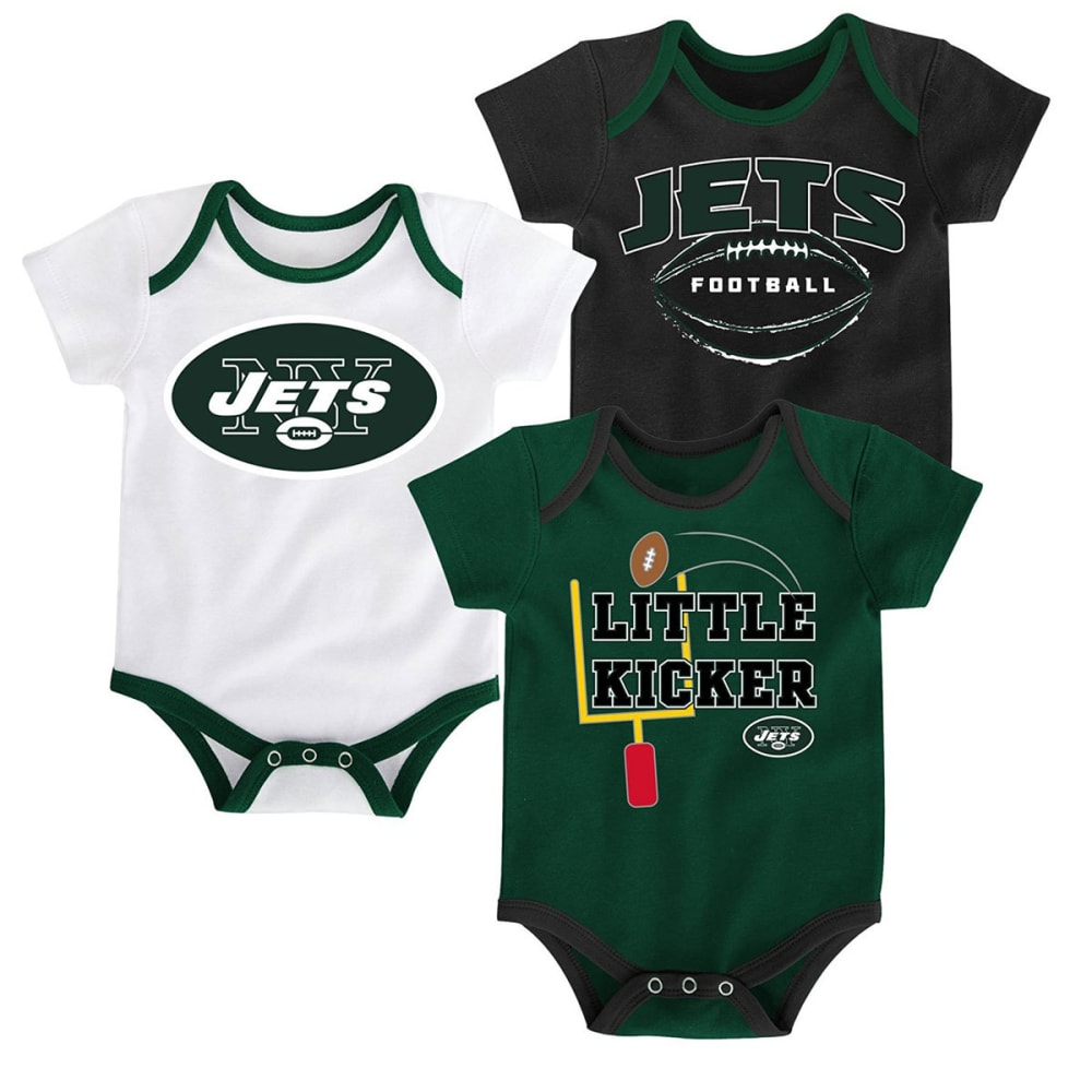 NEW YORK JETS Infant Bodysuit Set, 3 Piece 0-3M
