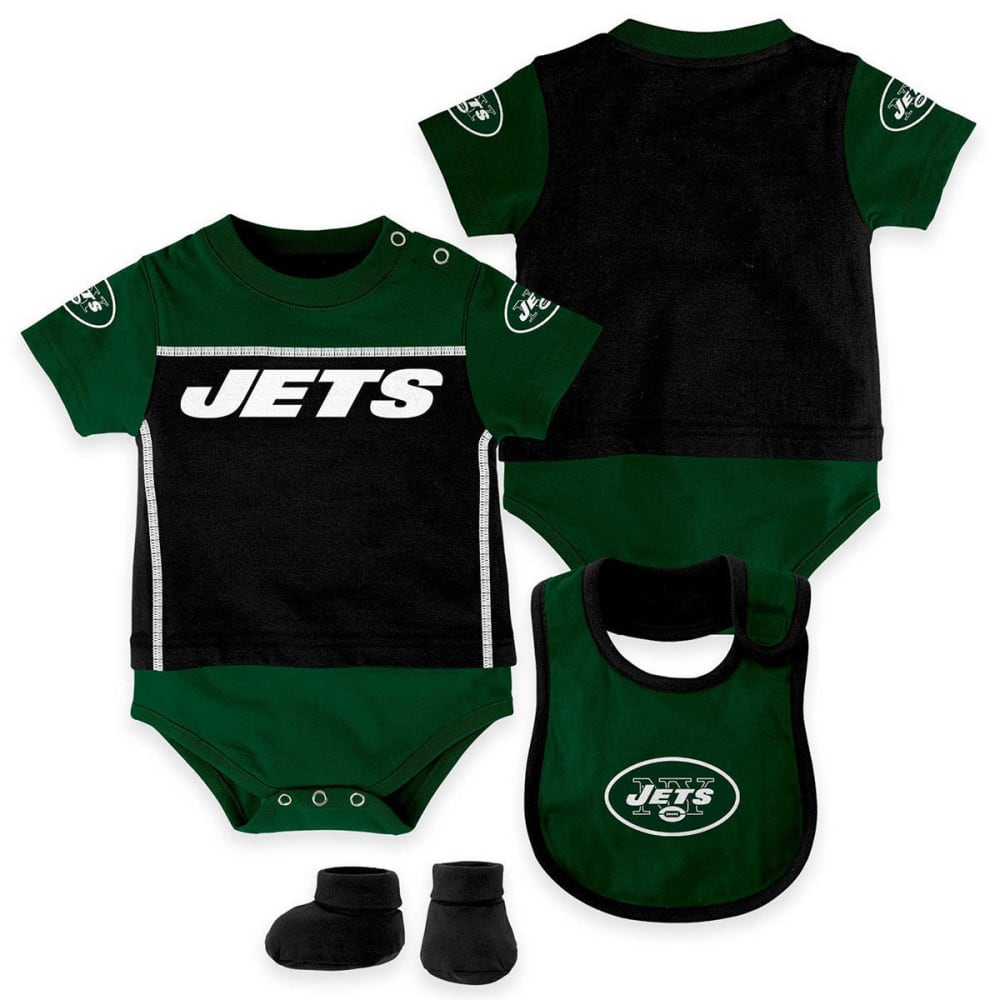 NEW YORK JETS Infant Boys' Bib, Booty, and Creeper Set - GREEN