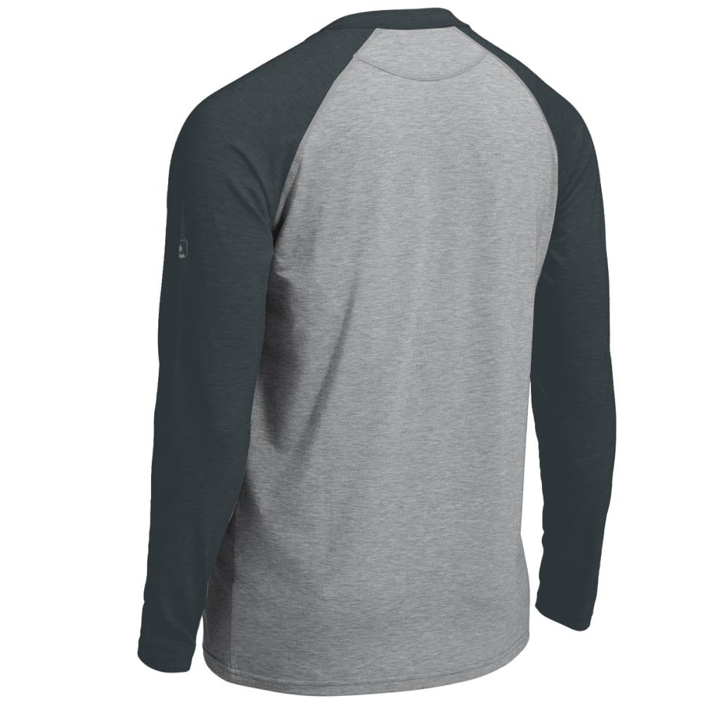 EMS® Men's Techwick® Millstone Raglan Long-Sleeve Shirt - NEUTRAL GREY/DARK SP
