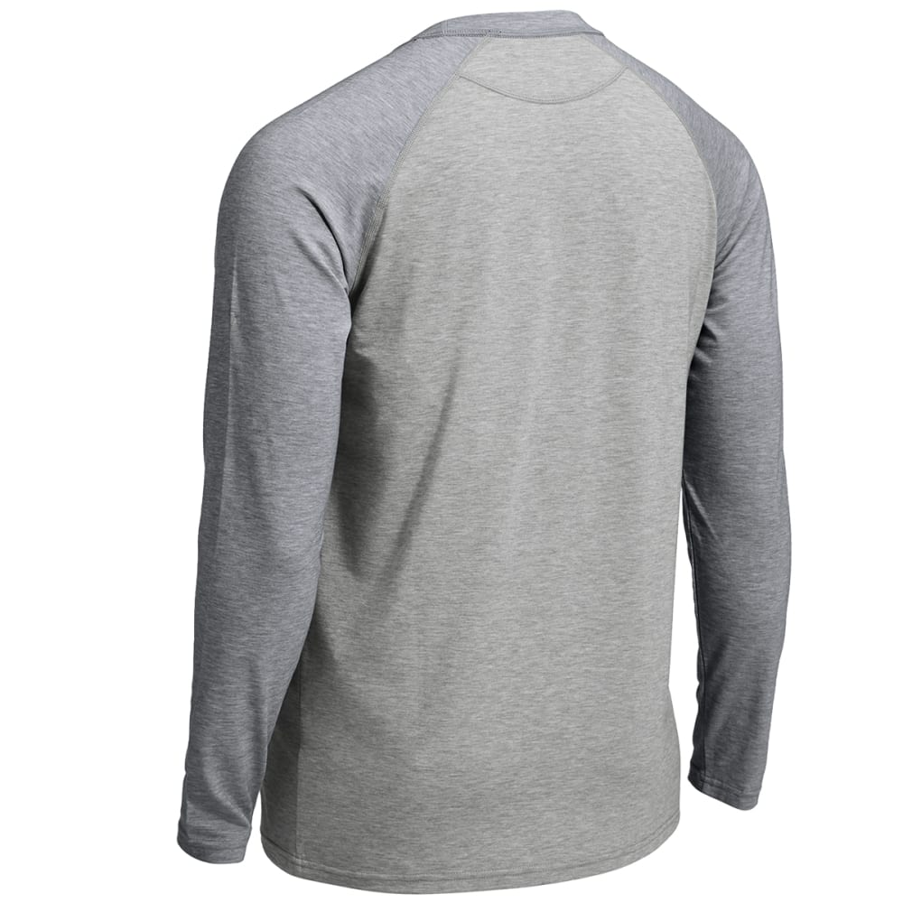EMS® Men's Techwick® Millstone Raglan Long-Sleeve Shirt - NAVY BLAZER /NEUTRAL