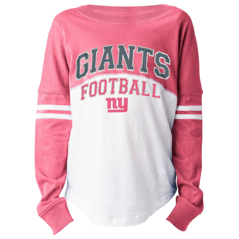 NEW YORK GIANTS Girls' Long Sleeve Spirit Top - PINK