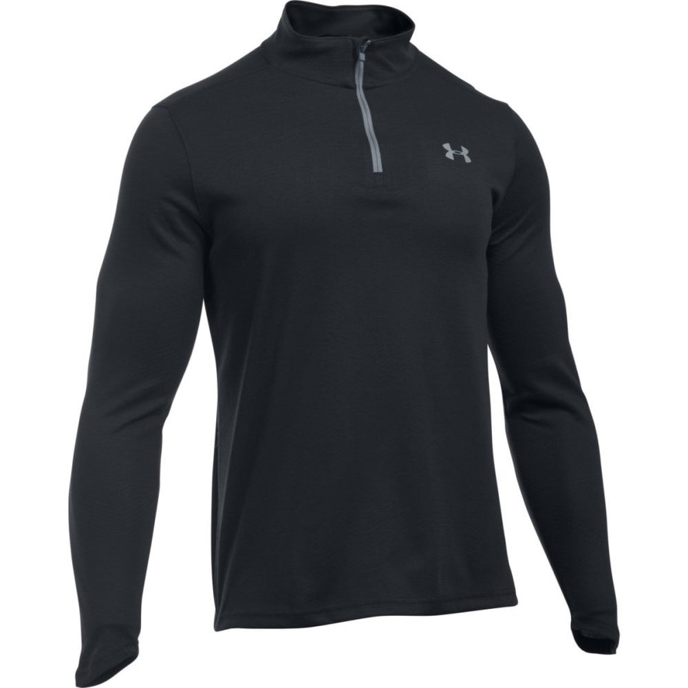 UNDER ARMOUR Men's ColdGear Infrared Lightweight ¼-Zip Pullover - BLACK/STEEL-001