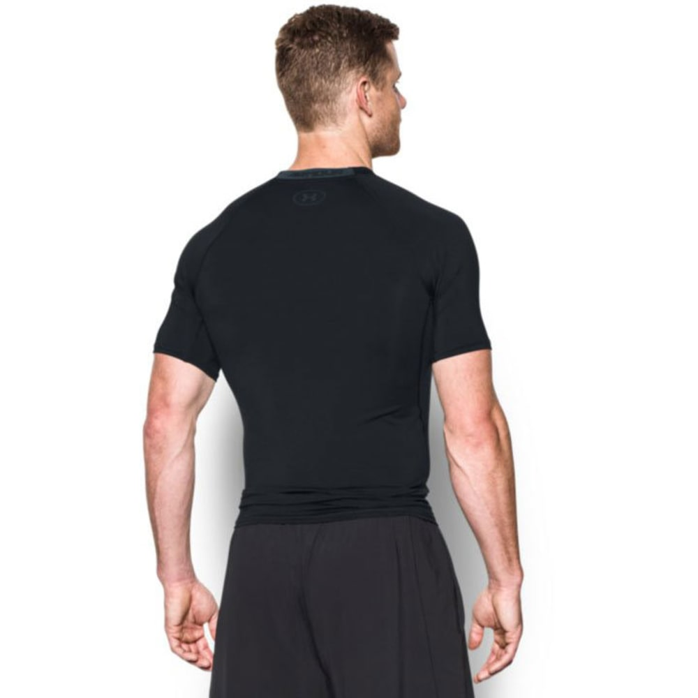UNDER ARMOUR Men's HeatGear Armour Printed Compression Shirt - BLACK/STEALTH-001