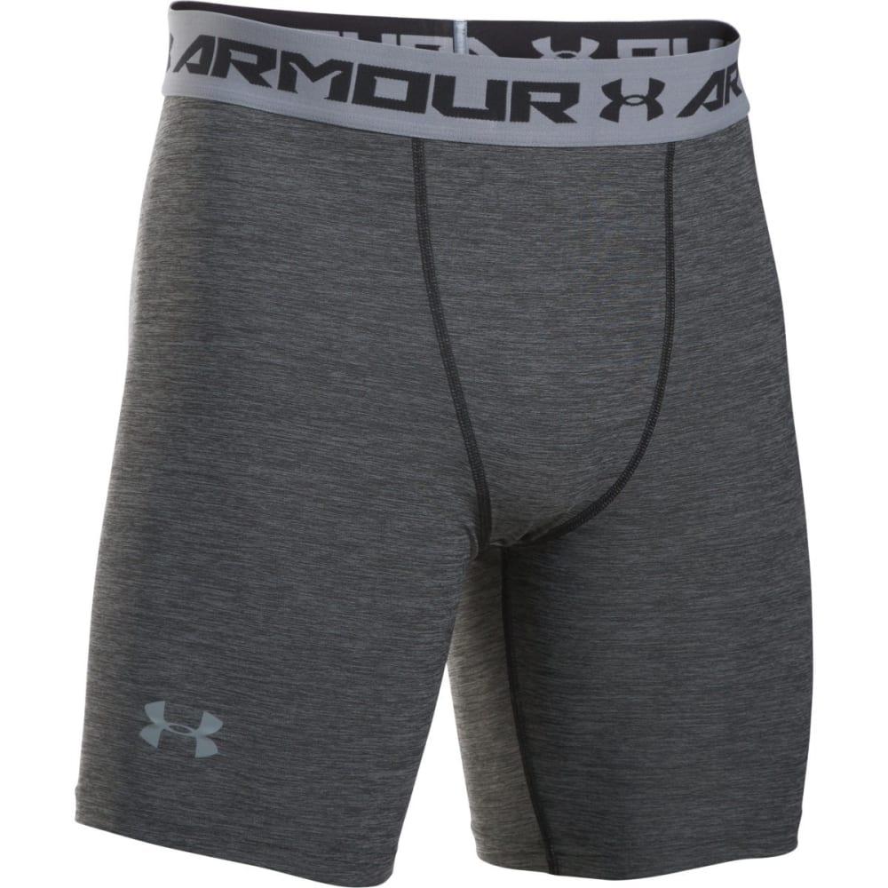 UNDER ARMOUR Men's HeatGear Armour Twist Compression Shorts - BLACK/STEEL-001