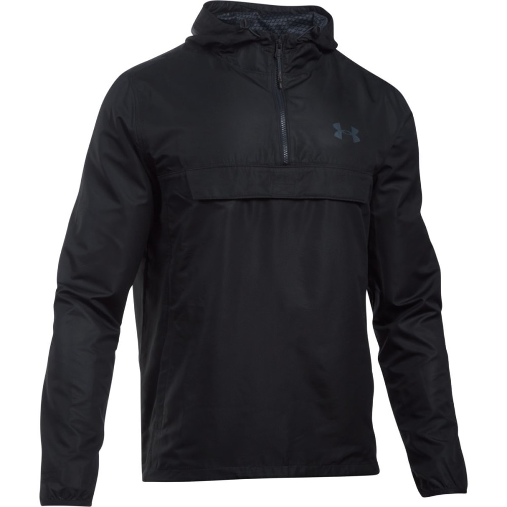 UNDER ARMOUR Men's Sportstyle Anorak Jacket - BLACK/STEALTH-001
