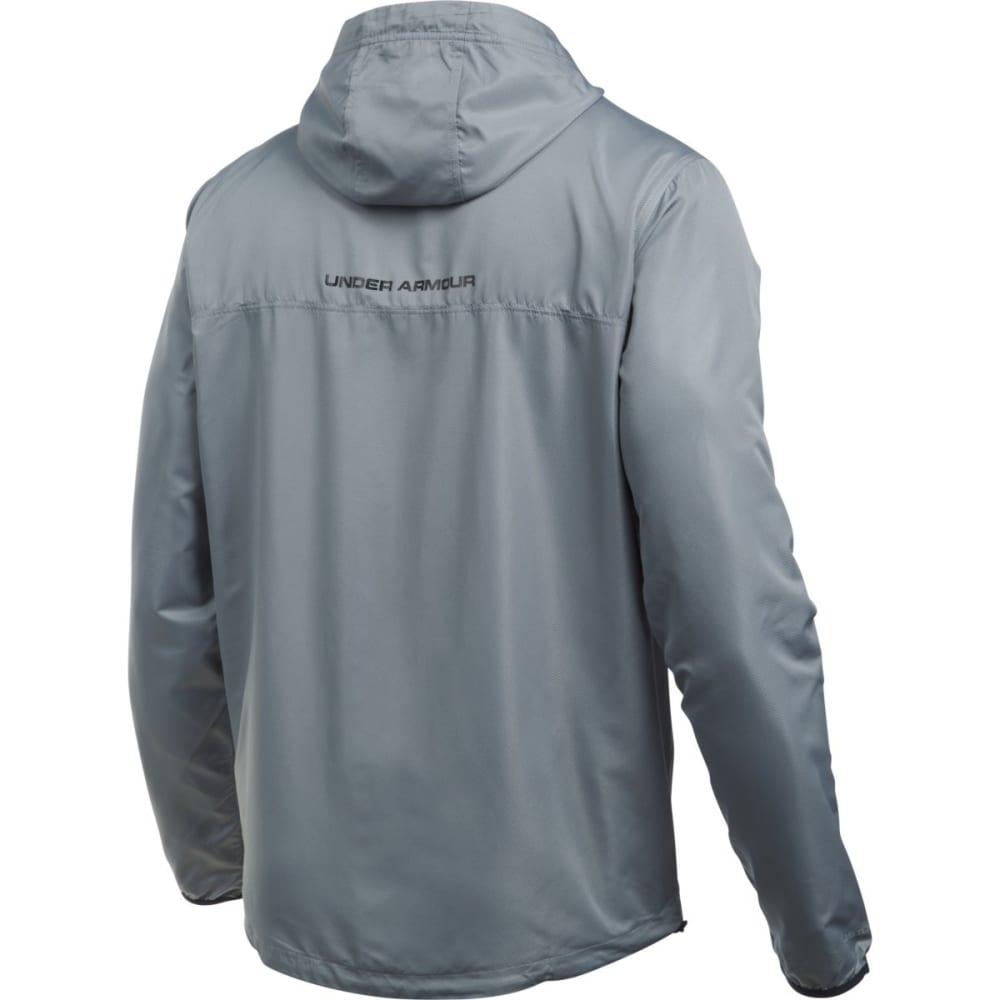UNDER ARMOUR Men's Sportstyle Anorak Jacket - STEEL/BLACK-035