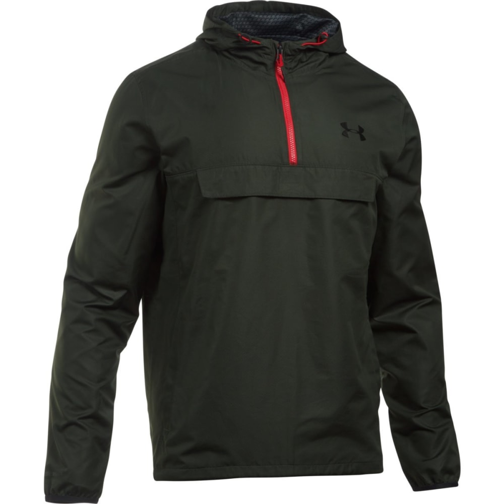 UNDER ARMOUR Men's Sportstyle Anorak Jacket - ARTILLERY GREEN-357