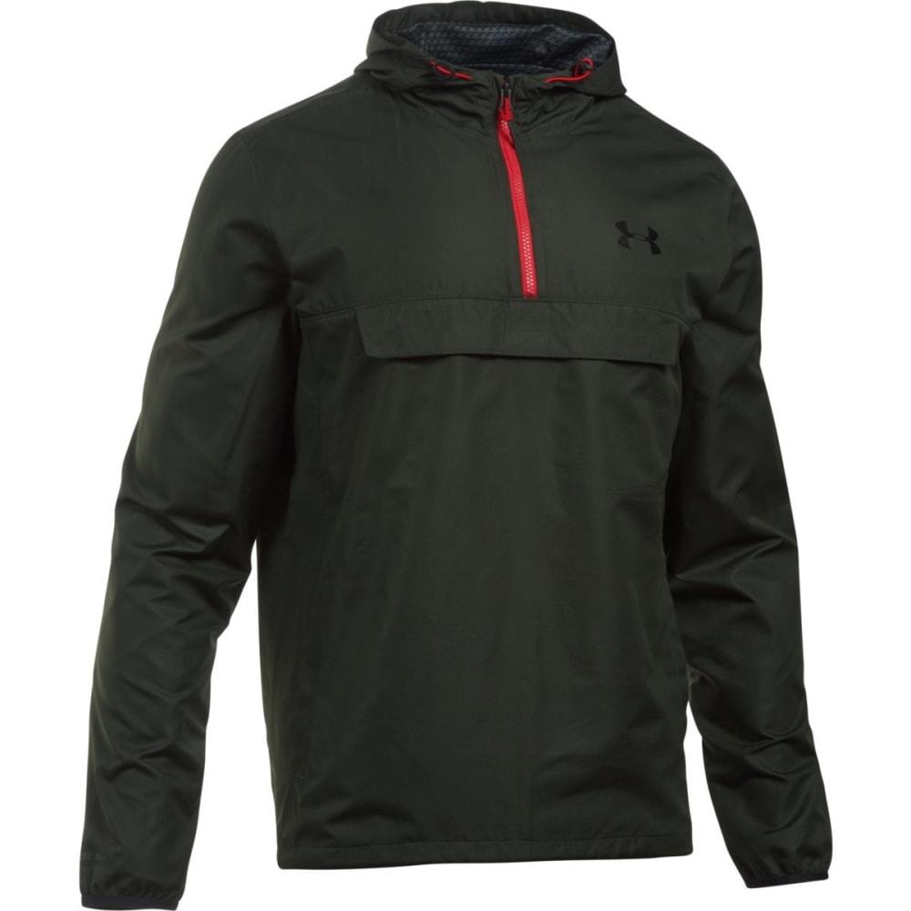 UNDER ARMOUR Men's Sportstyle Anorak Jacket - ARTILLERY GREEN-357