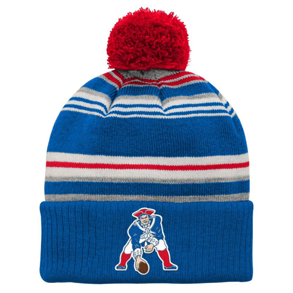 NEW ENGLAND PATRIOTS Kids' Retro Criterion Knit Hat - ROYAL BLUE/RED/ WHT