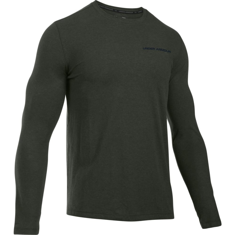 UNDER ARMOUR Men's Charged Cotton Long-Sleeve Tee - ARTILLARY GREEN-357