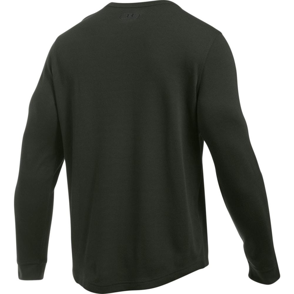 UNDER ARMOUR Men's Waffle Crewneck Shirt - ARTILLERY GREEN-357