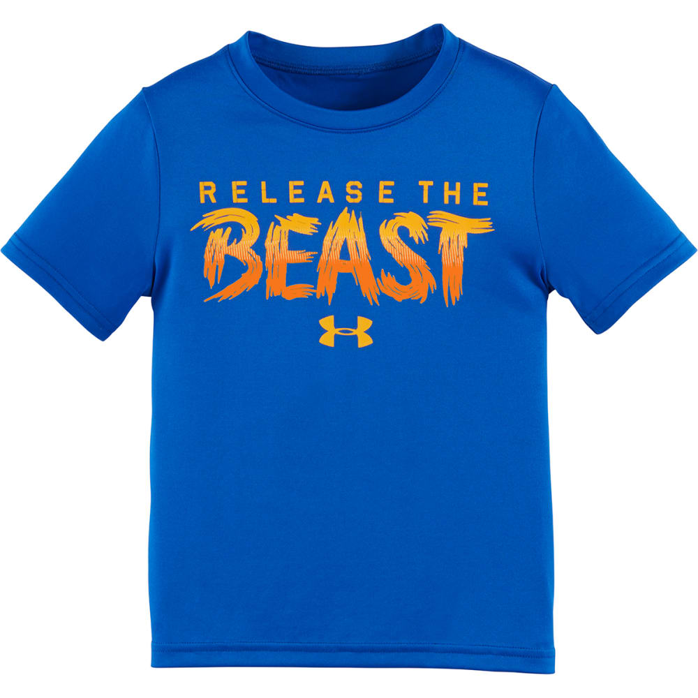 UNDER ARMOUR Boys' 4-7 Release the Beast Tee - ULTRA BLU/ORNG-41
