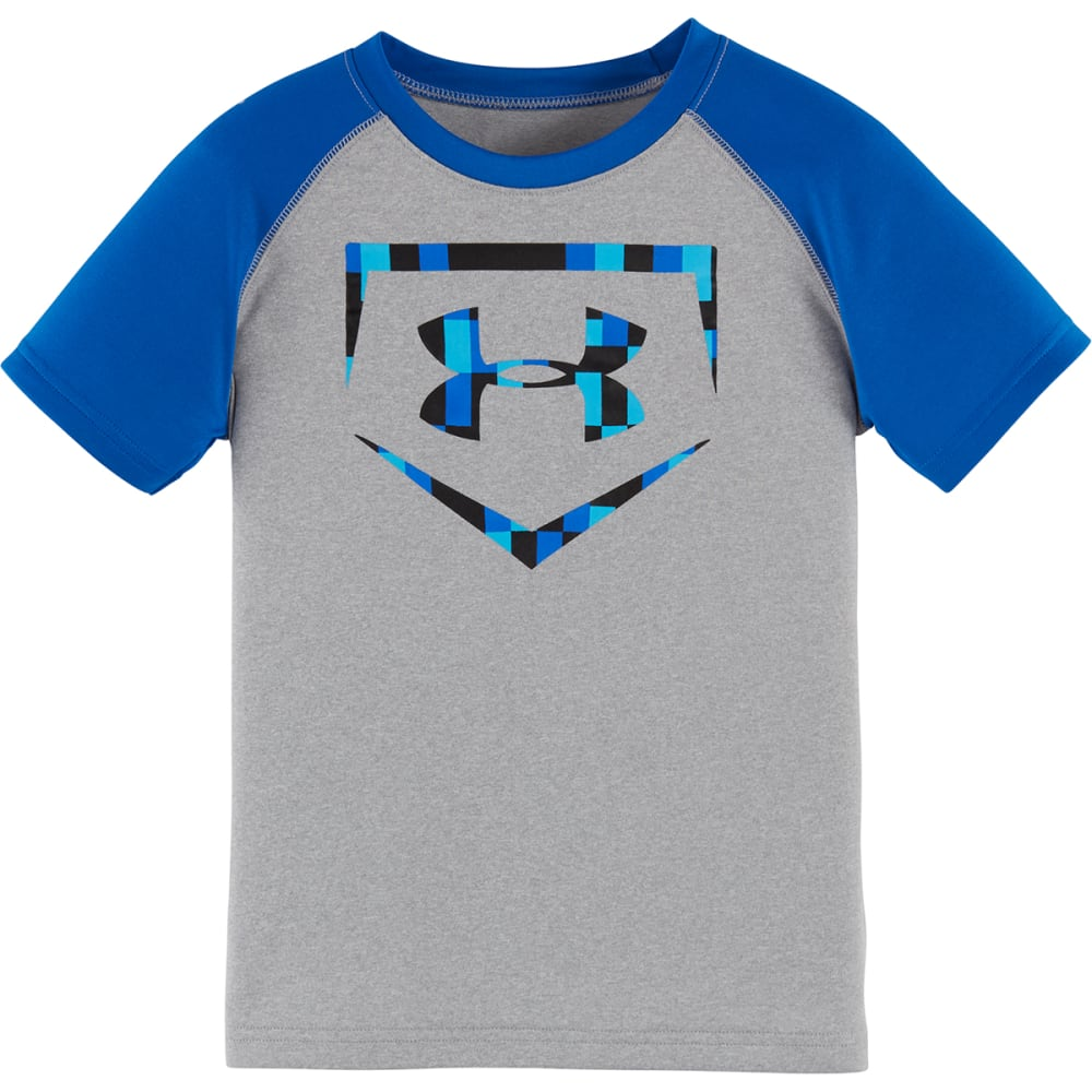 UNDER ARMOUR Boys' 4-7 Homeplate Tee - TGH/BLUE-02